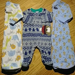 Carter's Newborn(0-9)Soft Fleece Onsie Sleepsacks